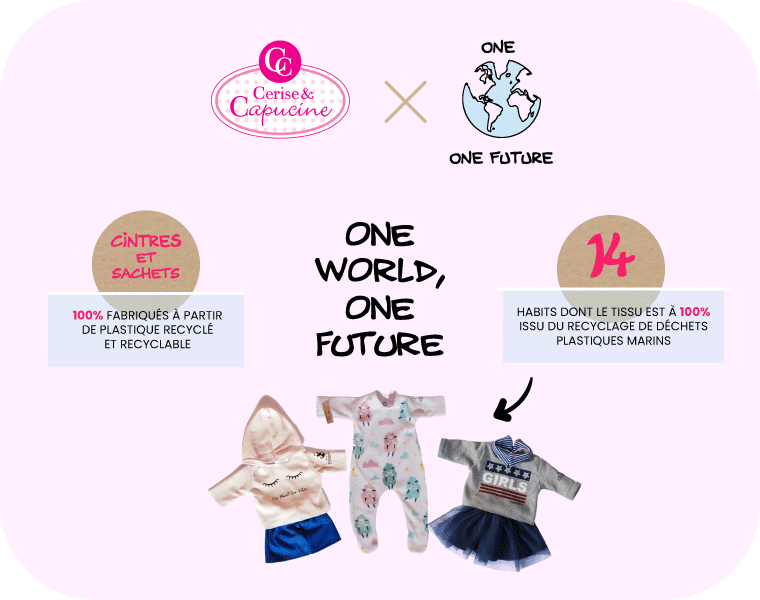 Gamme vêtements poupées One World One Future-Cerise et Capucine