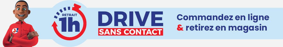 bannière commande drive sans contact