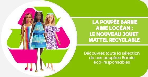 Découvrez toute la sélection de ces poupées Barbie éco-responsables