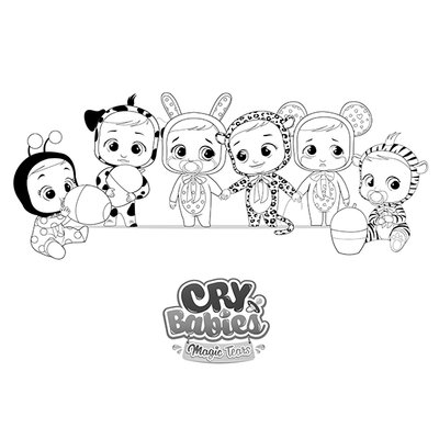 COLORIAGE IMC TOYS cry babies magic tears all together