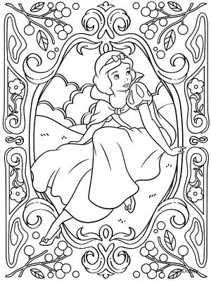 coloriage activite gratuit imprimer Disney princesse blanche neige