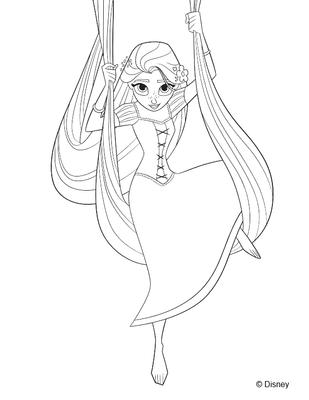 COLORIAGE A IMPRIMER GRATUITEMENT disney princesses raiponce