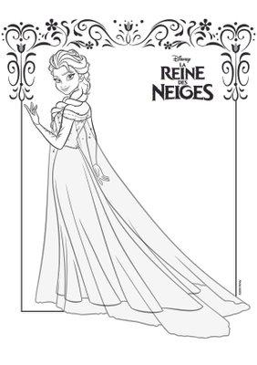 Coloriage Activite Imprimer Gratuit Reine Des Neiges Disney Princesses