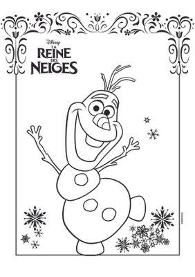 Coloriage a imprimer gratuitement disney princesses olaf la reine des neiges