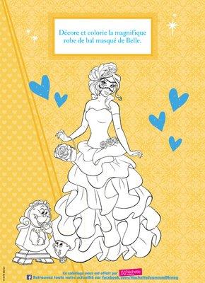 Coloriage a imprimer gratuitement disney princesses belle et la bete