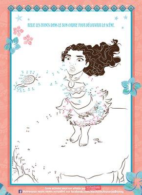 Jeux Relie-les-points a imprimer gratuitement disney princesse vaiana