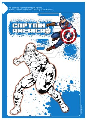 Coloriage a imprimer gratuitement disney marvel Captain America-1