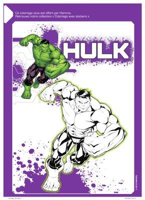 Coloriage a imprimer gratuitement disney marvel Hulk-1