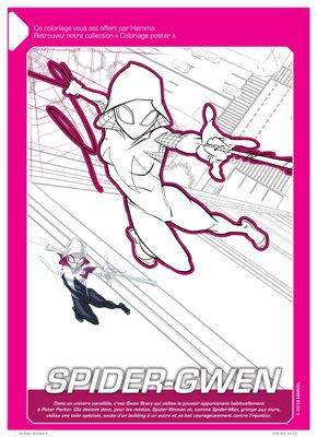 Coloriage a imprimer gratuitement disney marvel Spider-Gwen-1