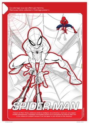 Coloriage a imprimer gratuitement disney marvel Spider-Man-1