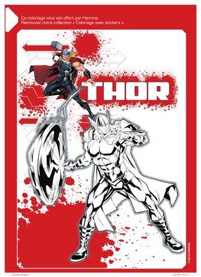 Coloriage a imprimer gratuitement disney marvel Thor-1