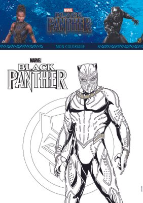 Coloriage a imprimer gratuitement disney marvel BlackPanther_1