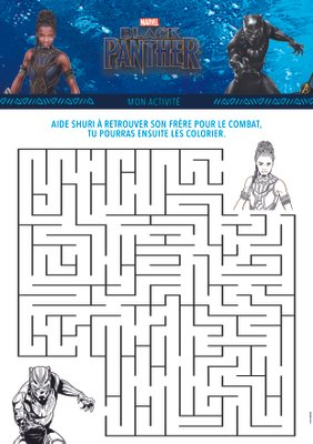 Jeux a imprimer gratuitement disney marvel BlackPanther_1