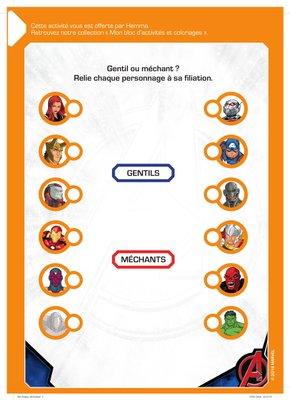 Jeux a relier a imprimer gratuitement disney marvel Avengers-1