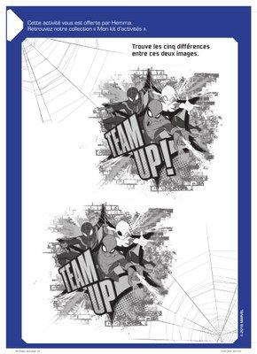 Jeux des Différences disney avengers a imprimer gratuitement Spider-Man-1