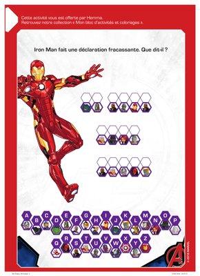 Jeux disney avengers Iron Man a imprimer gratuitement Avengers-1