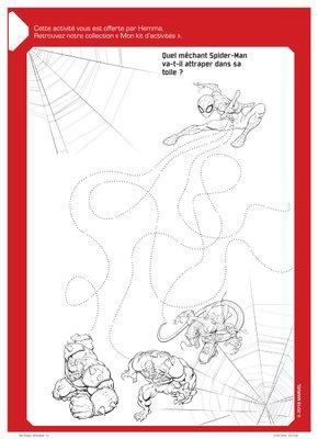 Jeux Trouve le bon chemin a imprimer gratuitement disney avengers Spider-Man-1