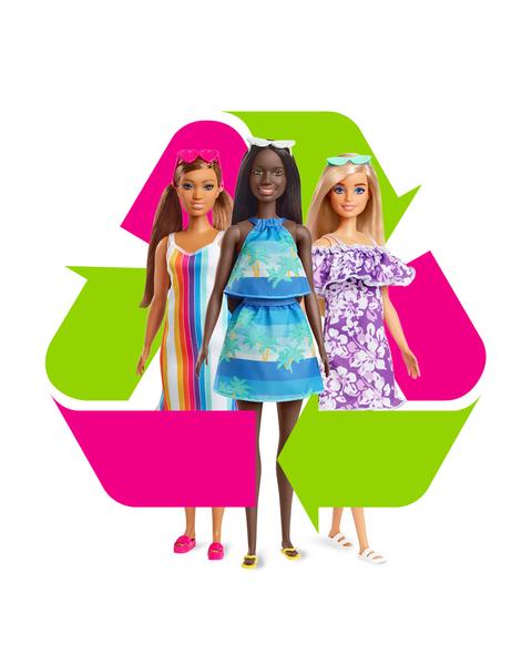 poupées barbie aime l ocean recyclables