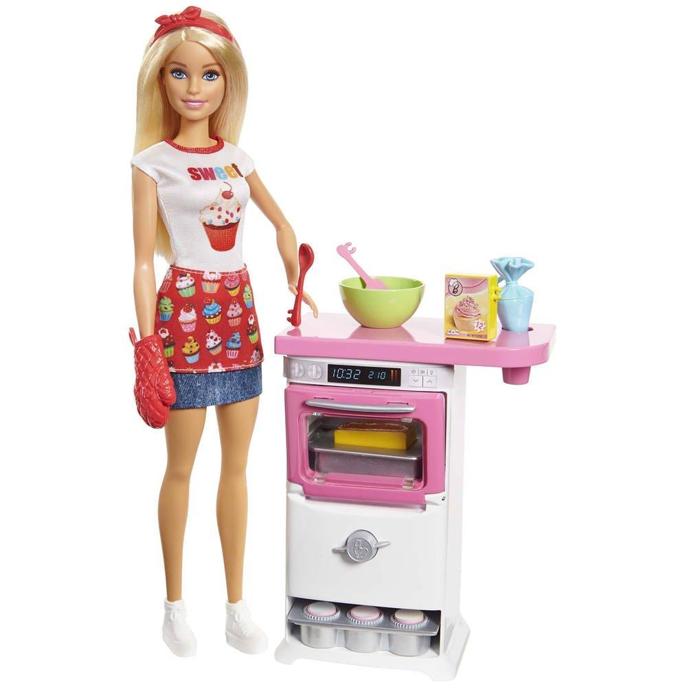 Coffret Poupee Barbie Patisserie Poupees Joueclub