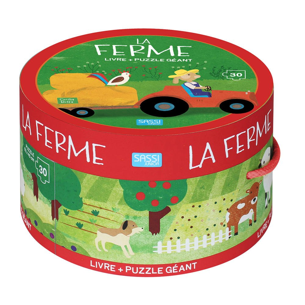 Puzzle Geant 30 Pieces Et Livre La Ferme Jeux Educatifs