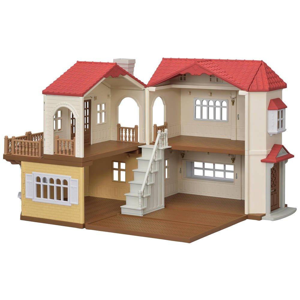 La Grande Maison Eclairee Sylvanian Maisons Figurines Joueclub