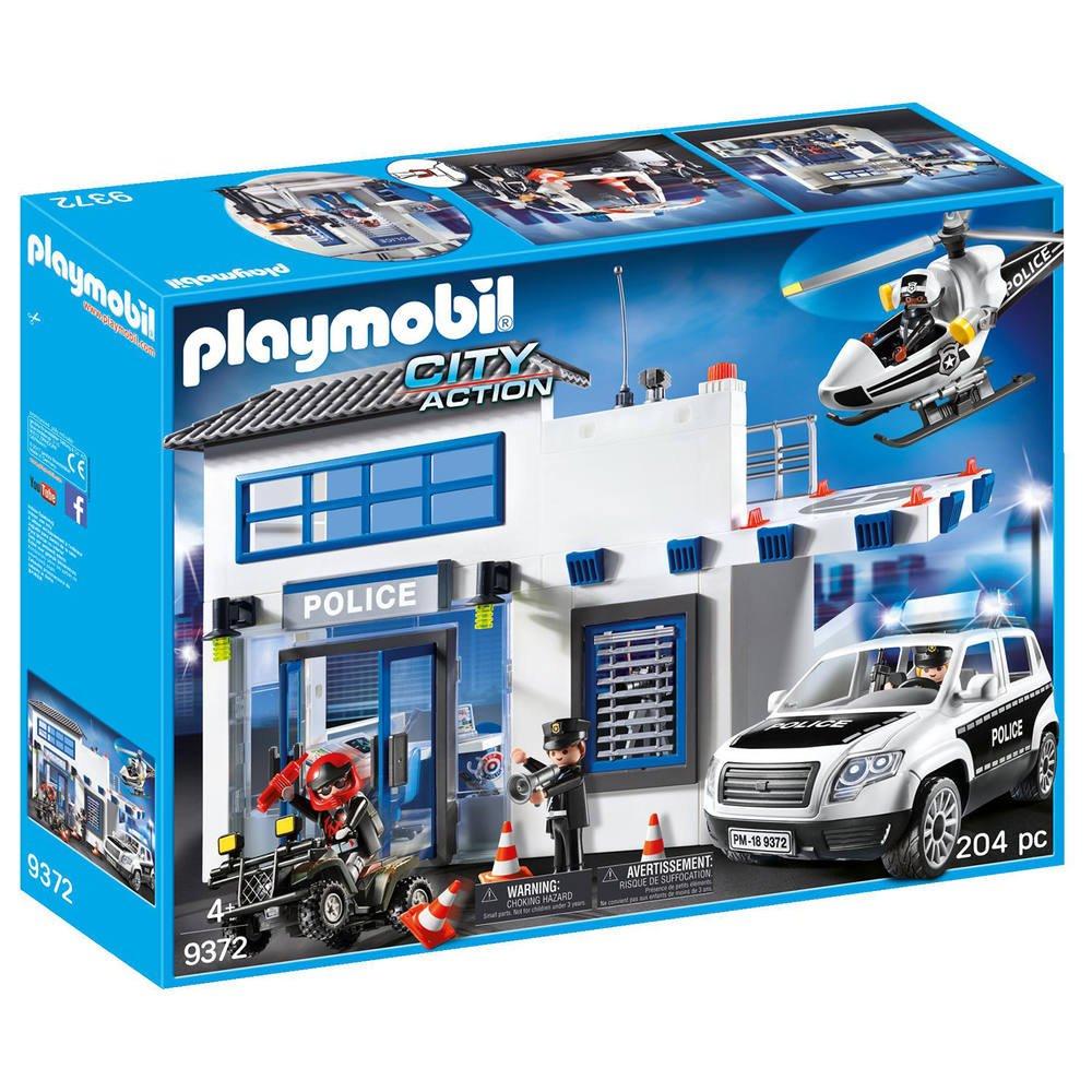 Jouet Commissariat de police avec voitures et hélicoptère