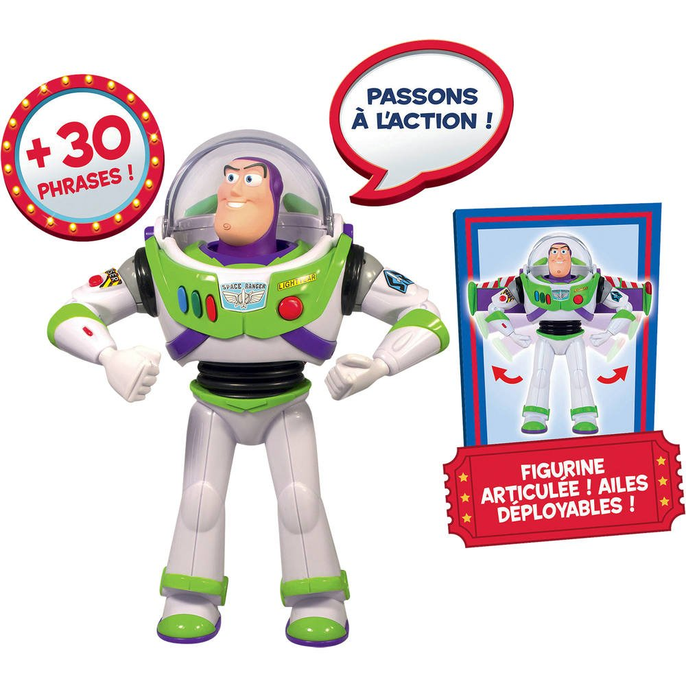 Figurine Buzz L Eclair Personnage Electronique Toy Story 4 Figurines Joueclub