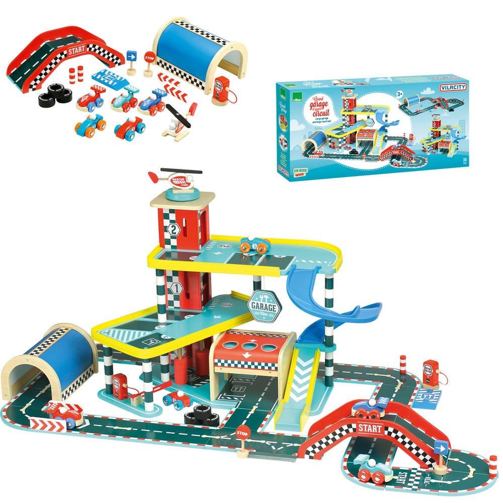 Jouéclub Circuit VilacityVehicules Et Grand Garage Garages L4qc5Aj3RS