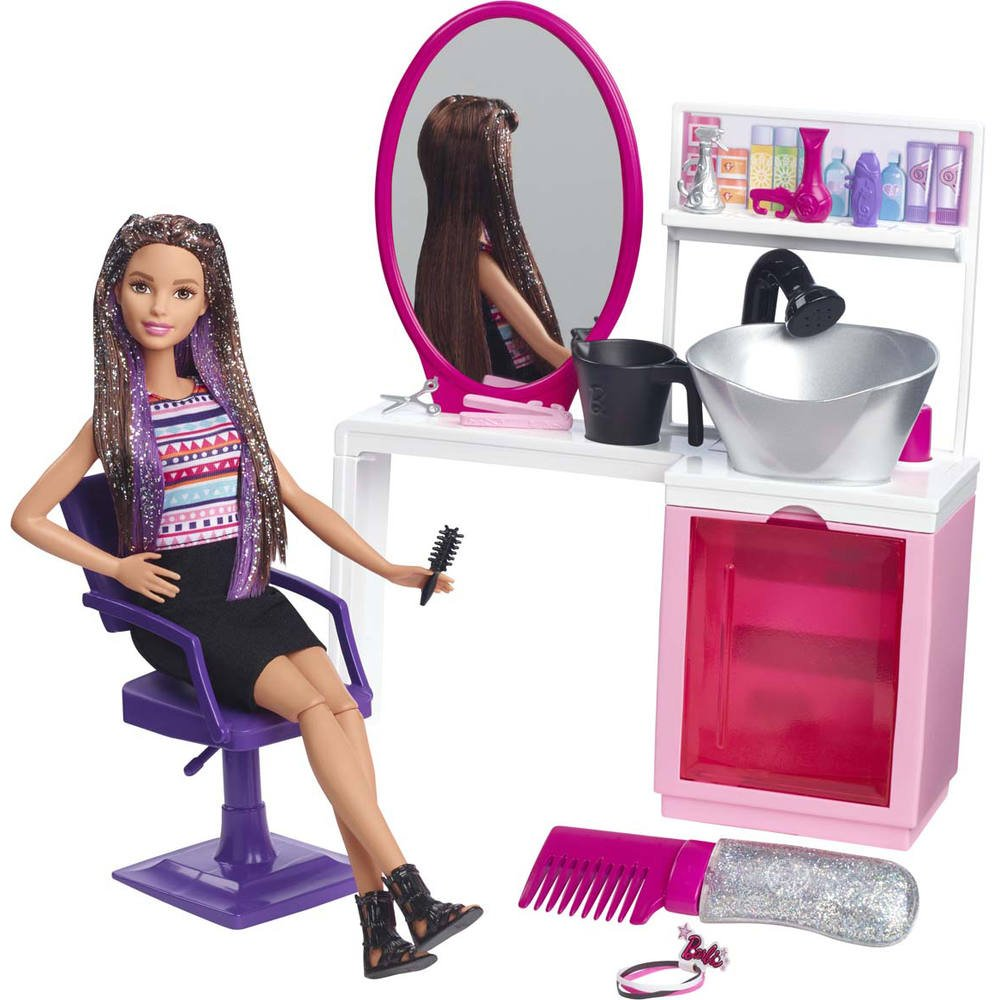 Barbie Studio Coiffure Poupees Jouéclub