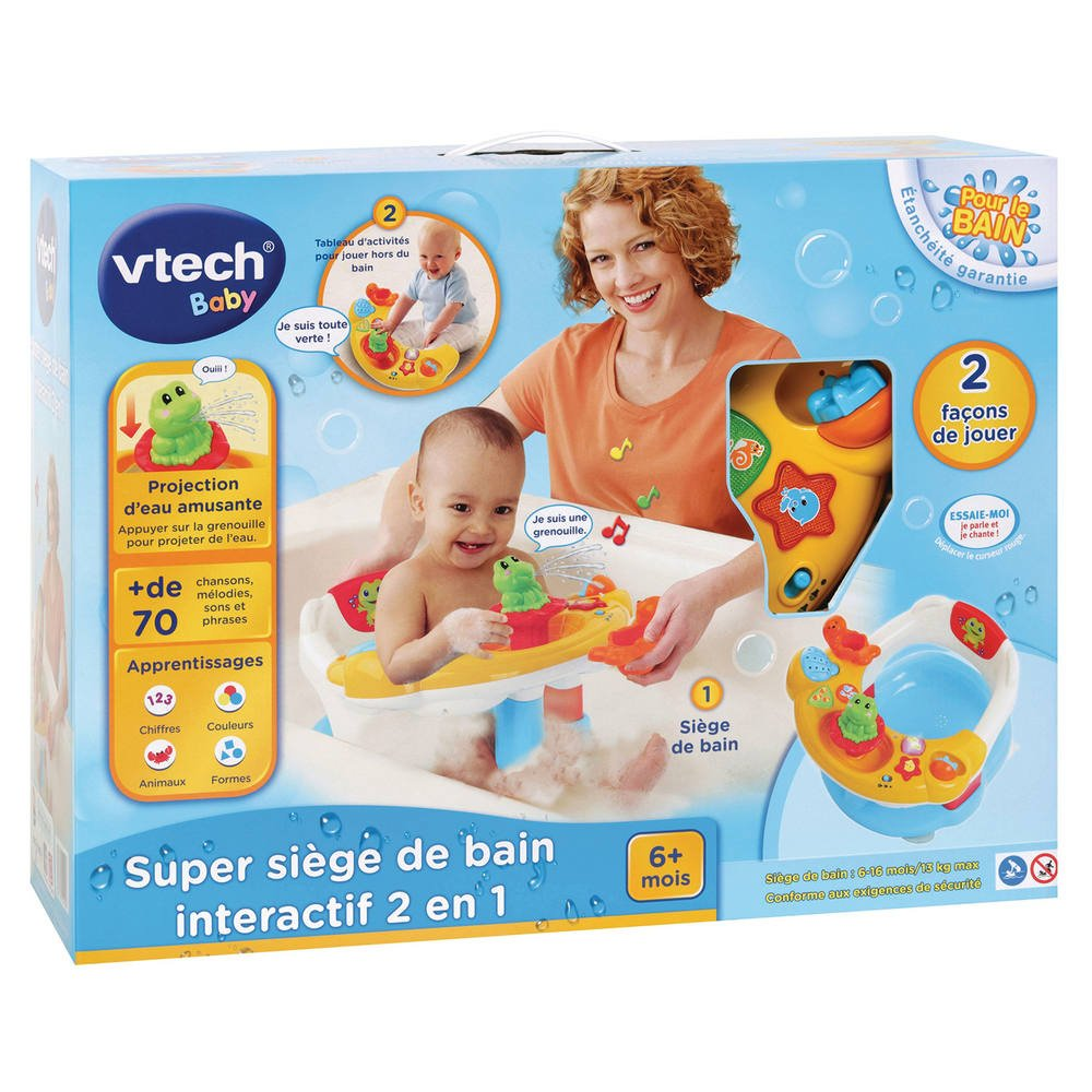 Vtech Baby Super Siege De Bain Interactif 2 En 1