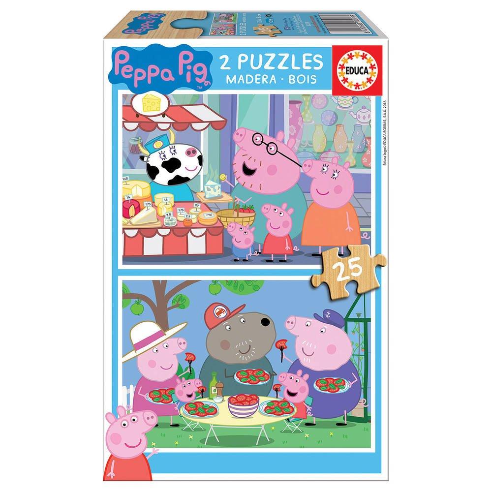 2 Puzzles Bois 25 Pieces Peppa Pig Puzzle Joueclub