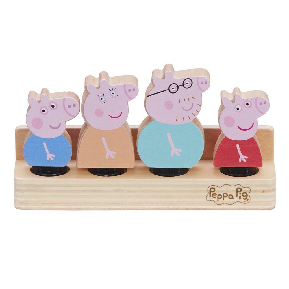 Coffret Famille En Bois 4 Personnages Peppa Pig Figurines Joueclub