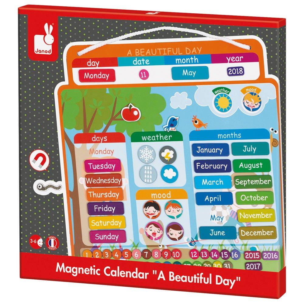 Agenda Magnetique Anglais A Beautiful Day | Jeux Educatifs Jouéclub