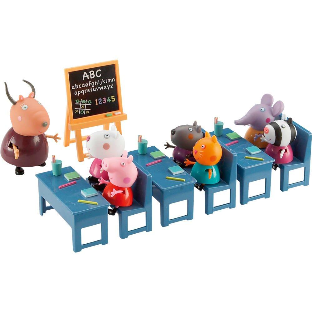 Salle De Classe Et 7 Personnages Peppa Pig Figurines Jouéclub