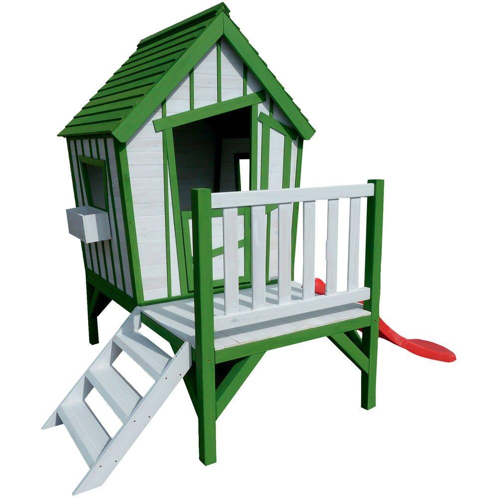 Ma cabane en bois sur pilotis | maisons enfants, toboggans enfant et ...