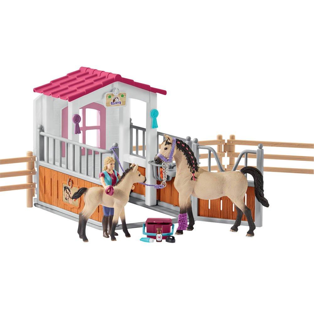 Box Avec Chevaux Arabes Et Soigneuse De Chevaux Figurines Joueclub