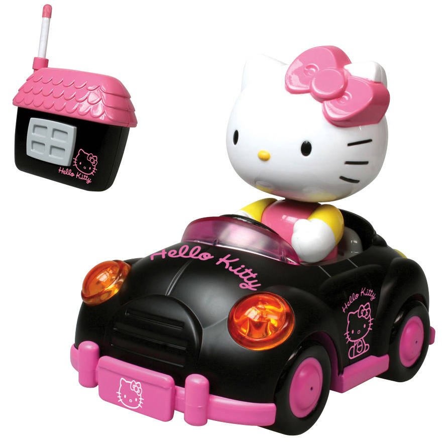 Voiture Radiocommande Go Go Hello Kitty Vehicules Garages Joueclub