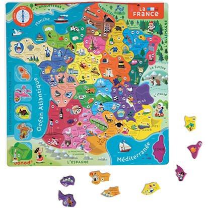 Carte Europe Janod.Puzzle France Magnetique Puzzle Joueclub