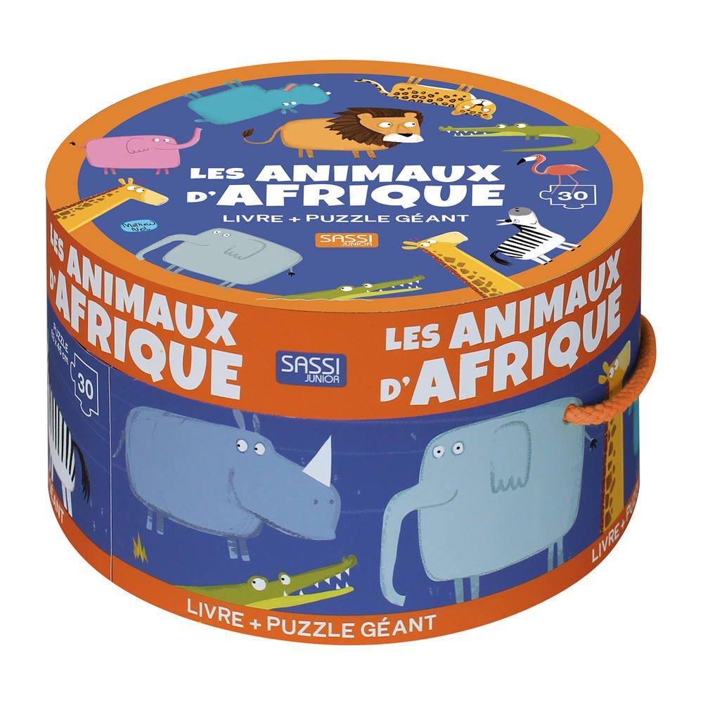 Puzzle Geant 30 Pieces Et Livre Les Animaux D Afrique