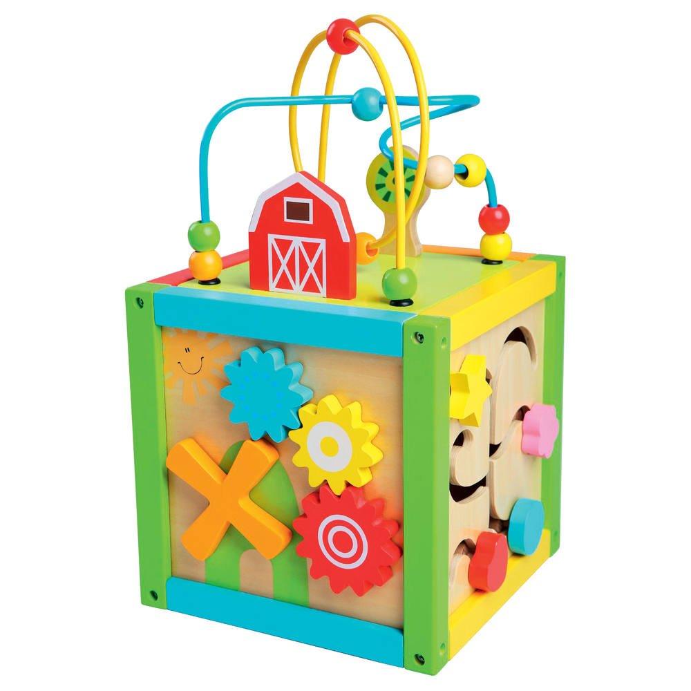 100 cubes en bois   jouets 1er age   jouéclub
