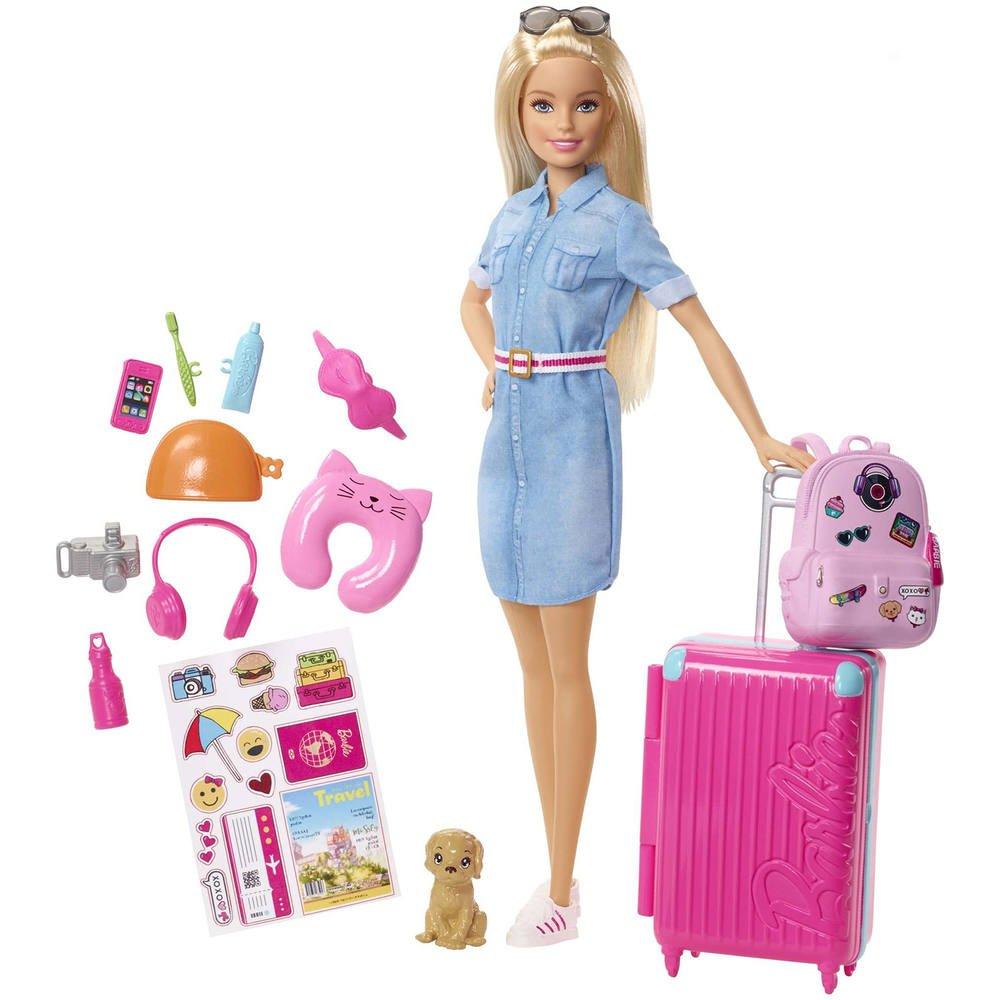 Coffret poupee barbie - voyage   poupees