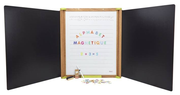Grand Triptyque En Bois Magnetique Tableaux Enfants Bureaux