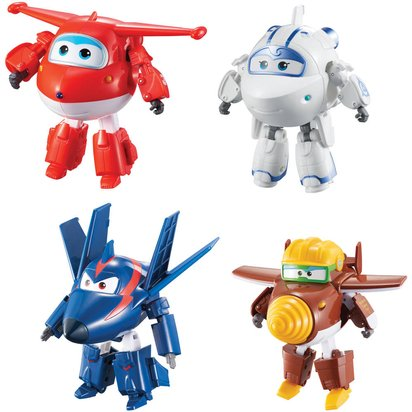 SUPER WINGS PACK DE 4 TRANSFORMING 12 CM (JETT   ASTRA   AGENT CHACE    TODD) AULDEY TOYS Ref   14020803 936743e7ef51