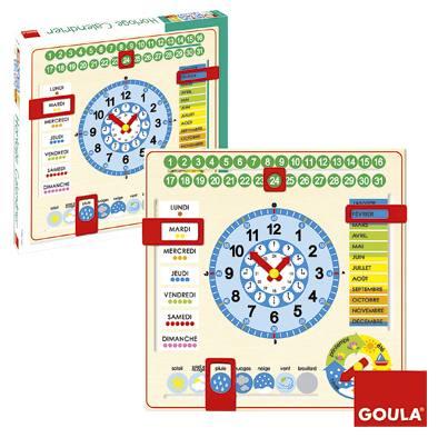 Calendrier Tissu Educatif.Horloge Calendrier Francais